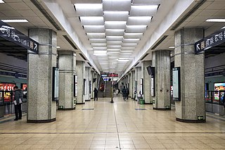 Chaoyang Men station Beijing subway interchange station