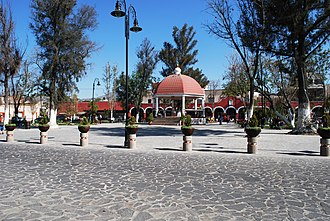 Teotihuacán Municipality - Main plaza of the town