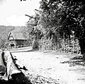 Pletena ograja, drva, kozolec, Rogatec 1948.jpg