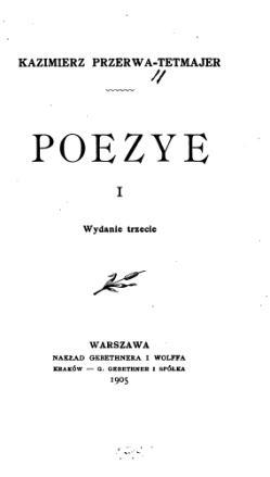 Poezye T 1 Wikiźródła Wolna Biblioteka