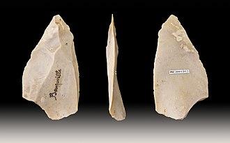 Levallois technique - Image: Pointe levallois Beuzeville MHNT PRE.2009.0.203.2.fon d
