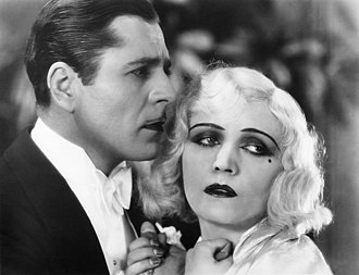 Pola Negri - Negri with Warner Baxter in a publicity still for Three Sinners (1928)