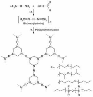 Polyhexahydrotriazine - Image: Polyhexahydrotriazin e synthesis 2