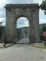 Pont du Robinet sur le Rhône, Donzère, portique est.JPG