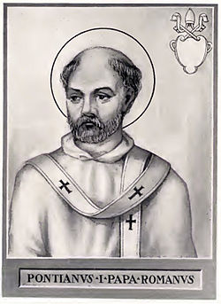 Pope Pontian Illustration