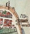 Porte St Lazare on 17th century Avignon map.jpg