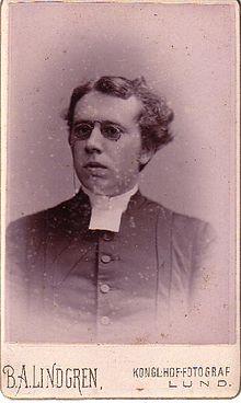 Otto Ahnfelt som ung.   Foto af B.A. Lindgren taget tidligst 1881.