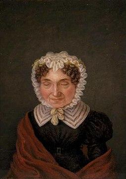Portret van Petronella Moens (1762-1843) door Margaretha Cornelia Boellaard (1795-1872)