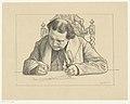 Portret van schrijvende Abraham Kuyper Bekende tijdgenooten (serietitel), RP-P-1926-983.jpg
