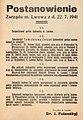 Postanowienie prezydenta Lwowa Jurija Polanskiego z 22 lipca 1941 o ustanowieniu Rady Żydowskiej.jpg