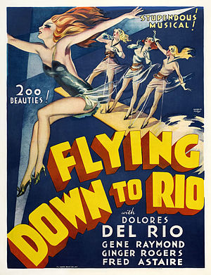 Flying Down to Rio - Film poster by Harold Seroy