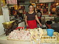 Poultry meat section in Denpasar market..JPG