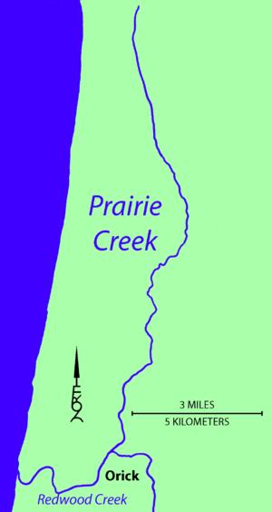 Prairie Creek (California) - Image: Prairie Creek Map