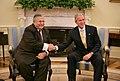 President George W. Bush and President Jalal Talabani of Iraq.jpg