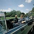 President John F. Kennedy and President Dr. Sarvepalli Radhakrishnan of India in Car Before Motorcade (6).jpg