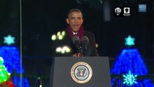 File:President Obama Delivers Remarks at the National Christmas Tree Lighting Ceremony - 2014.webm