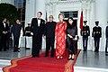 President Ronald Reagan, Li Xiannian, Nancy Reagan, and Lin Jiamei.jpg