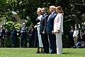 President Trump, First Lady Melania Trump, President Duda, and Mrs. Duda Watch an F-35 Flyover (48055781022).jpg