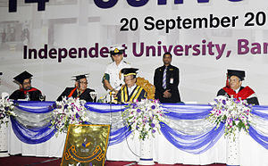Independent University, Bangladesh - Chancellor Zillur Rahman speech on 14th Convocation