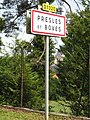 Presles-et-Boves (Aisne) city limit sign.JPG