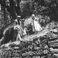 Prime Minister Jawaharlal Nehru and Countess Mountbatten strolling during their holiday in Simla in 1948.jpg