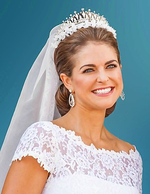 Princess Madeleine, Duchess of Hälsingland and Gästrikland - Princess Madeleine on her wedding day, 8 June 2013