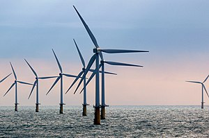 Wind power in the Netherlands - Princess Amalia Wind Farm in the North Sea