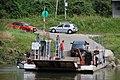 Prom na Dunajcu w Siedliszowicach. Ferry in Siedliszowice (Poland - Dunajec river).JPG