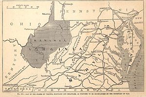 English: 1862 Map Showing the Proposed State o...