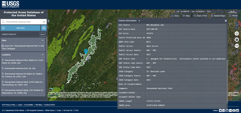 Protected Area Database of the United States - Shenandoah National Park.png