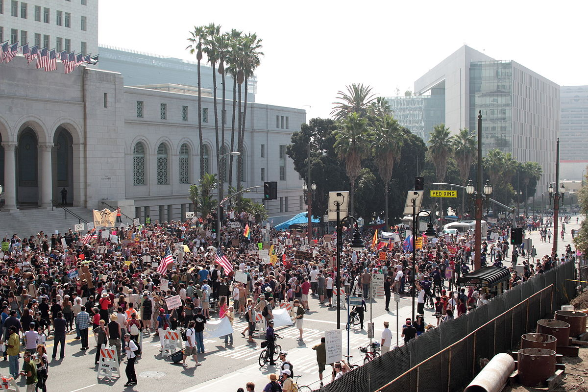 Obama And Wall Street >> Occupy Los Angeles - Wikipedia