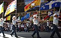 Provincial and territorial flags at the Calgary Stampede Parade 2011.jpg