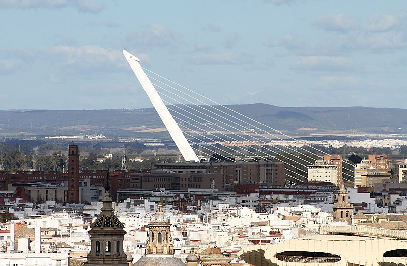 File:Puente del Alamillo from the Giralda.JPG