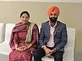 Punjabi poetess Sukhwinder Amrit and Punjabi Academy General secretary Gurbhej Singh Goraya.jpg