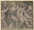 Putti Playing with Hoops (Cartoon for a Fresco in the Parma Cathedral) MET DP279476.jpg