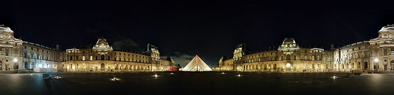File:Pyramide du louvre de nuit - pano 360.jpg