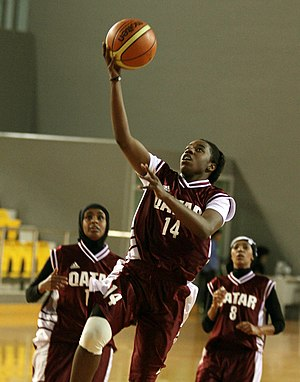 Sport in Qatar - Qatari female basketball players