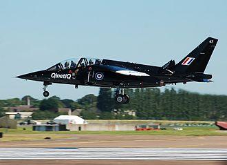 Qinetiq - Qinetiq Dassault/Dornier Alpha Jet (ZJ647) arrives at RAF Fairford, Gloucestershire, England, for the Royal International Air Tattoo (2014)
