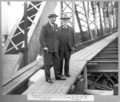 Queensland State Archives 2793 Inspection of the Story Bridge construction by His Excellency the State Governor Sir Leslie Orme Wilson and Dr John Bradfield 7 July 1938.png