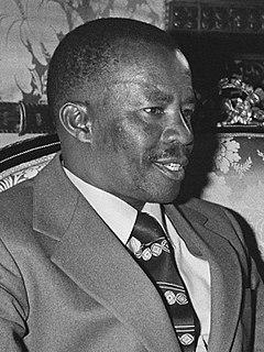 Quett Masire President of Botswana