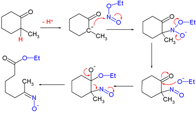 Reaction mechanism for ring opening