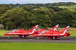 RAF Red Arrows at Prestwick Airport (29476345940).jpg