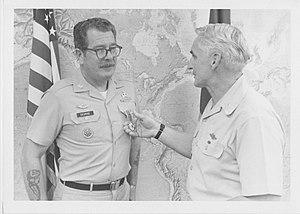 Recipients of the Legion of Merit - RL George Legion of Merit with Gen Westmoreland