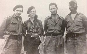 Vilma Espín - Raúl Castro, Vilma Espín, Jorge Risquet and José Nivaldo Causse (1958)