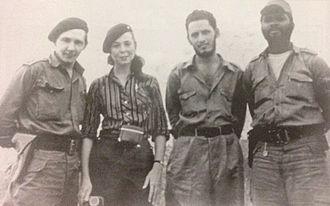 Cuban Revolution - Raúl Castro, Vilma Espín, Jorge Risquet and José Nivaldo Causse in 1958