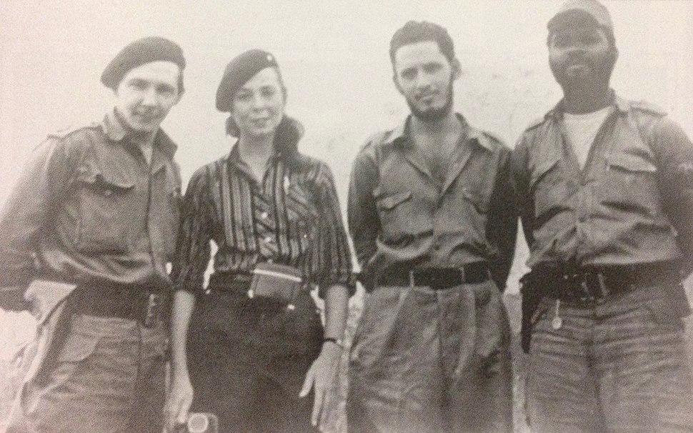 Raúl, Vilma, Jorge Risquet y José Nivaldo Causse
