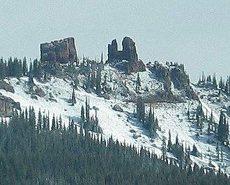Rabbit Ears Pass - View of Rabbit Ears Peak from the Pass