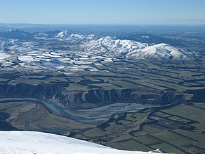 Rakaia River - The Rakaia River as viewed from Mount Hutt