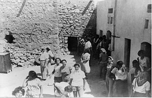Ramat Yohanan - Immigrant reception day at Ramat Yohanan. 1948