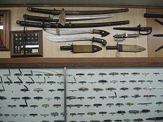 Randall Made Knives - Display at Randall Made Knives Museum